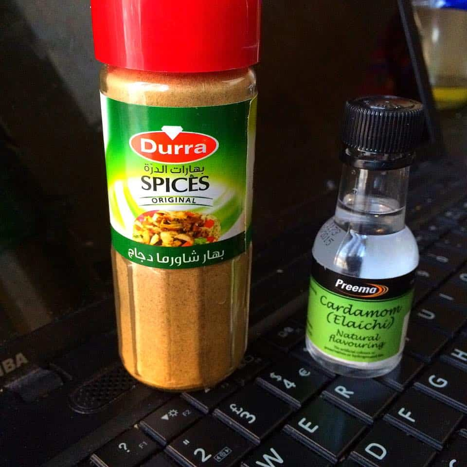 Shawarma spice mix and cardamom essence