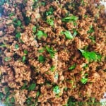 Minced Lamb Filling for Samosas, Spring Rolls, Sandwiches etc - recipe @ FatimaCooks.net