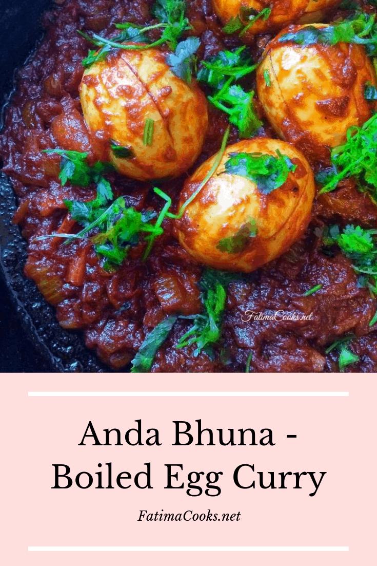 Anda Bhuna - Boiled Egg Curry - Fatima Cooks